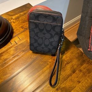COACH Black clutch men's women's